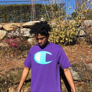 champion logo shirt size large